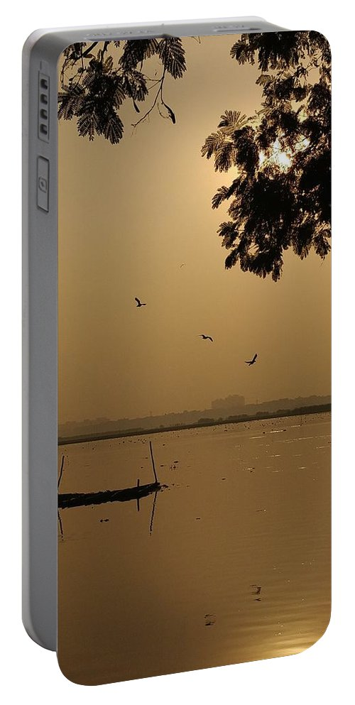 Sunset Portable Battery Charger featuring the photograph Sunset by Priya Hazra