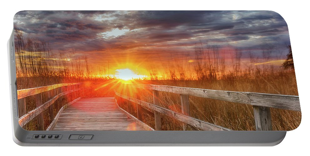 Sunset Walk Portable Battery Charger featuring the photograph Sunset Walk by Russell Pugh