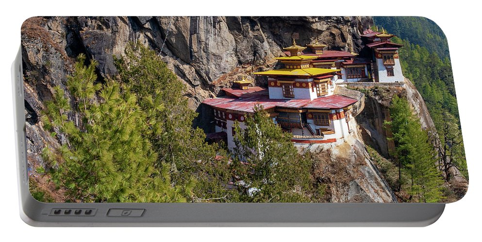 Bhutan Portable Battery Charger featuring the photograph Taktsang Monastery by Fabrizio Troiani