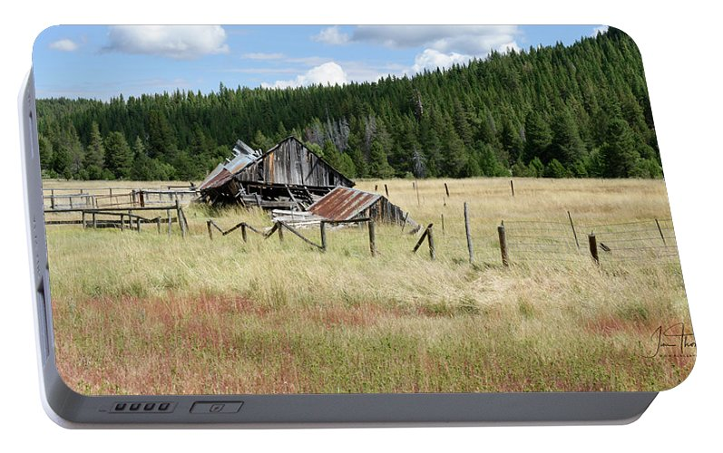 Landscapes Portable Battery Charger featuring the photograph The Old Barn by Jim Thompson