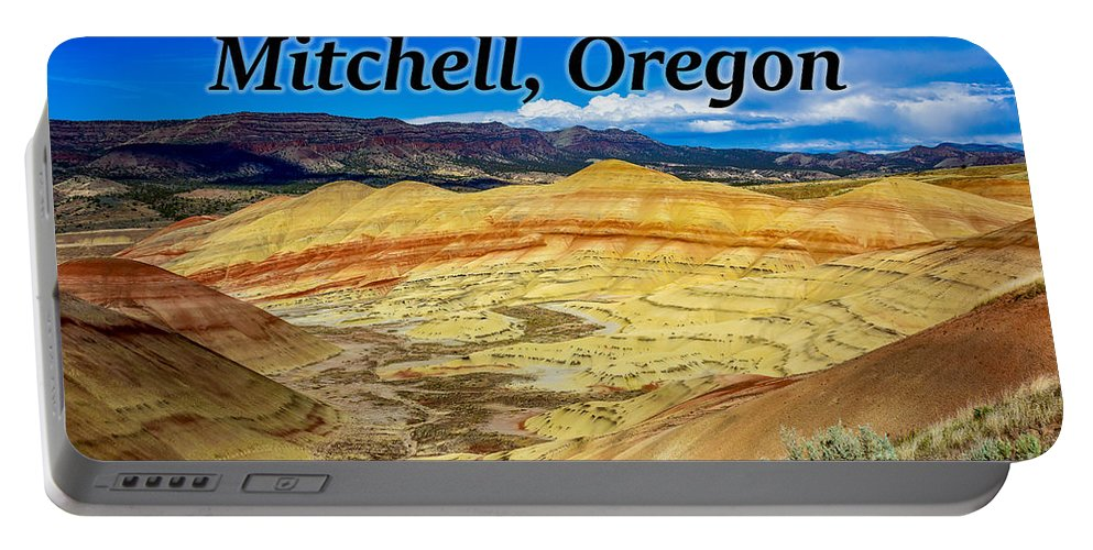 The Painted Hills Portable Battery Charger featuring the photograph The Painted Hills Mitchell Oregon by G Matthew Laughton