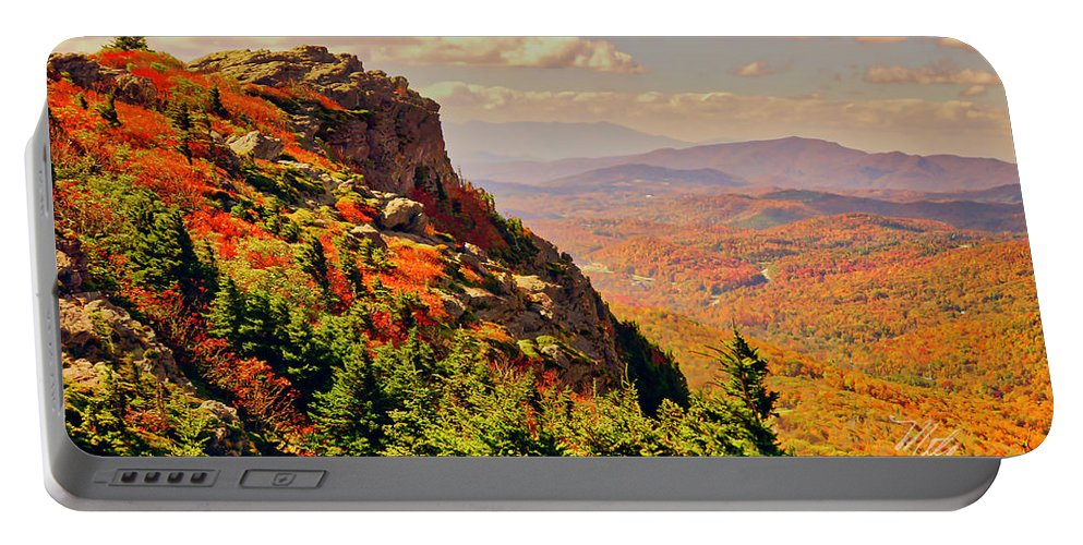 Fall Portable Battery Charger featuring the photograph The Summit In Fall by Meta Gatschenberger