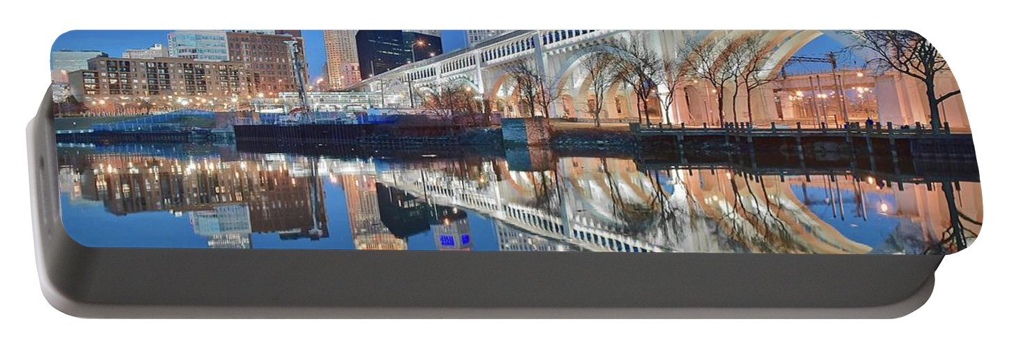 Cleveland Portable Battery Charger featuring the photograph This Is Cleveland II by Frozen in Time Fine Art Photography