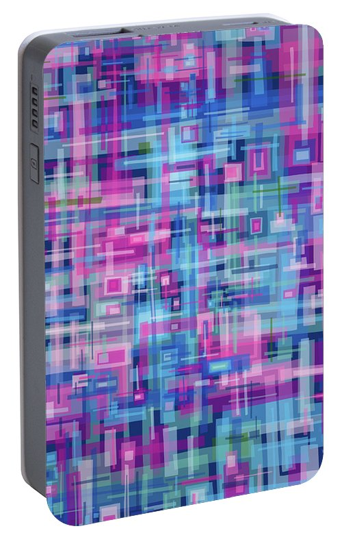 Nonobjective Portable Battery Charger featuring the digital art Thought Patterns #4 by James Fryer