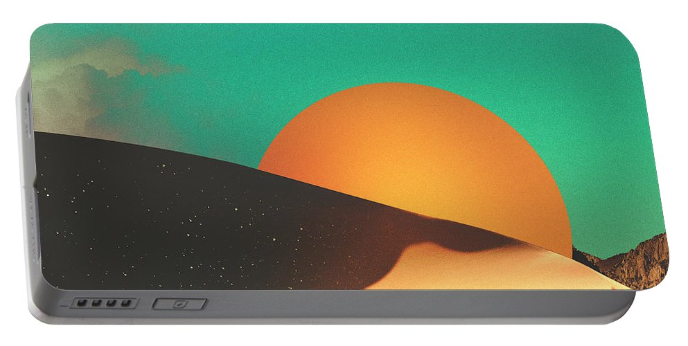 Collage Portable Battery Charger featuring the digital art Thrist by Fran Rodriguez