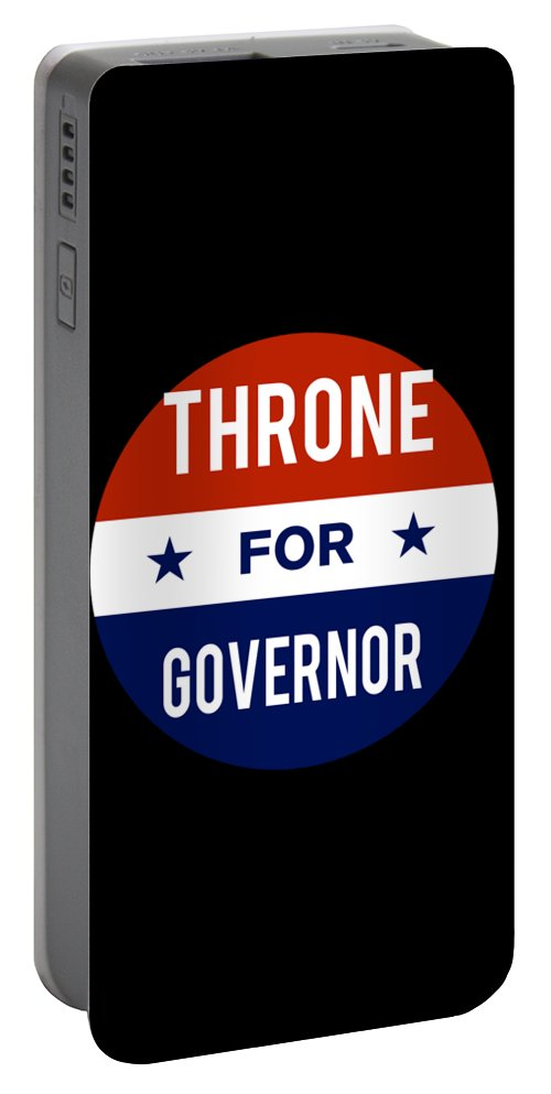 Election Portable Battery Charger featuring the digital art Throne For Governor 2018 by Flippin Sweet Gear