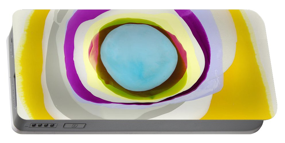 Abstract Portable Battery Charger featuring the photograph Tranquil by Claire Desjardins
