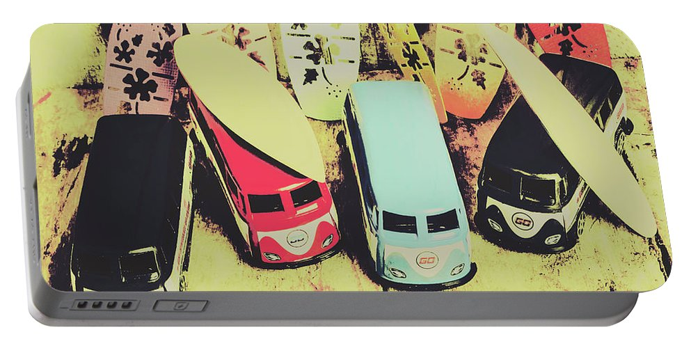 Car Portable Battery Charger featuring the photograph Tropical Trippers 1960 by Jorgo Photography - Wall Art Gallery