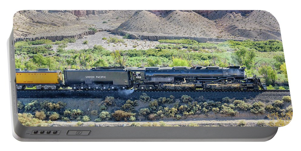 Afton Canyon Portable Battery Charger featuring the photograph Up4014 Big Boy by Jim Thompson