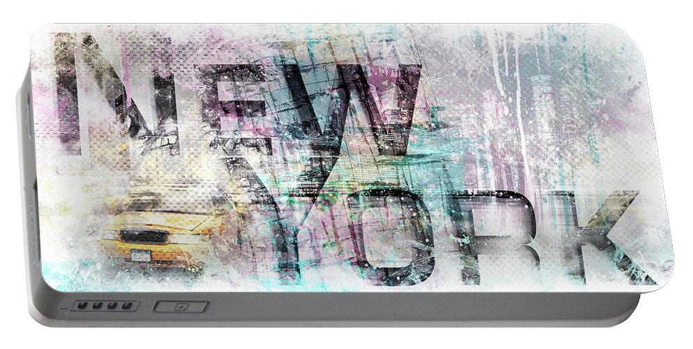 New York City Portable Battery Charger featuring the photograph Urban Art New York City by Melanie Viola