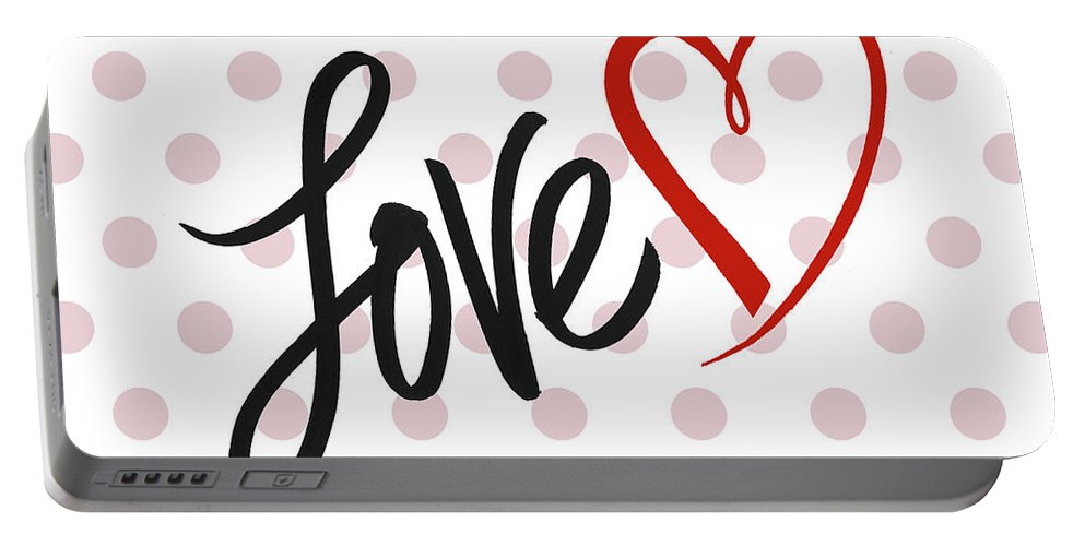 Valentine's Portable Battery Charger featuring the mixed media Valentine's Love by Sd Graphics Studio