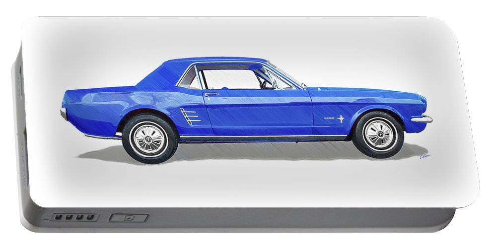 Automobile Portable Battery Charger featuring the drawing Vintage Ford Mustang - Dwp3864868 by Dean Wittle