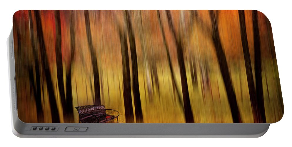 Appalachian Portable Battery Charger featuring the digital art Waiting For You In My Dreams by Debra and Dave Vanderlaan