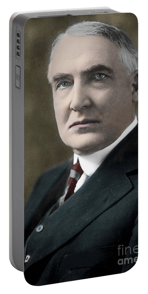 Warren Gamaliel Harding Portable Battery Charger featuring the photograph Warren Gamaliel Harding, 29th President Of The United States by American School