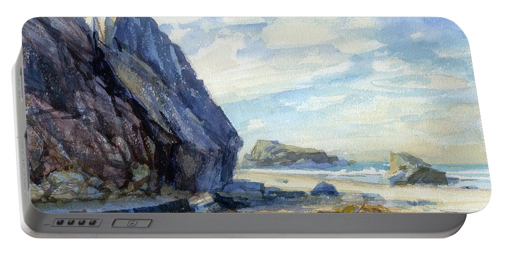Beach Portable Battery Charger featuring the painting Washed Ashore by Steve Henderson