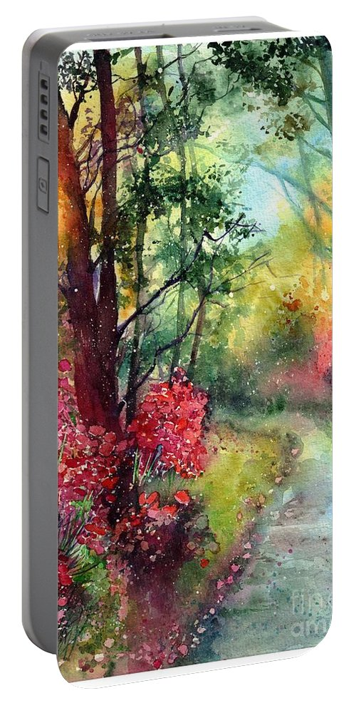 Nature Portable Battery Charger featuring the painting Where Do We Go by Suzann Sines