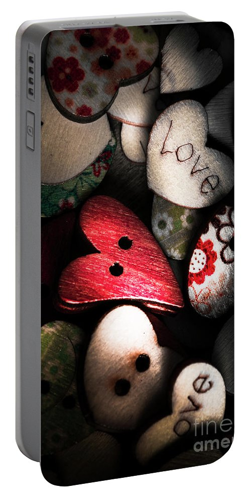 Romantic Portable Battery Charger featuring the photograph With Sentiment In The Sewing Box by Jorgo Photography - Wall Art Gallery