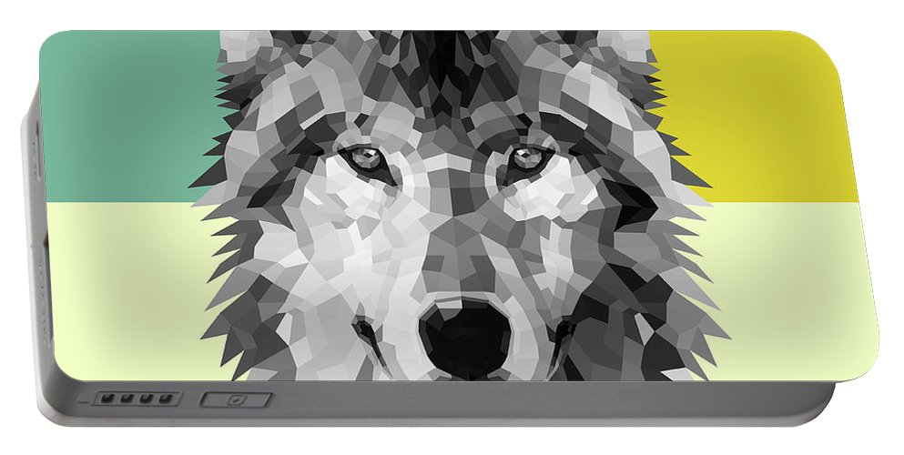 Wolf Portable Battery Charger featuring the digital art Wolf by Naxart Studio
