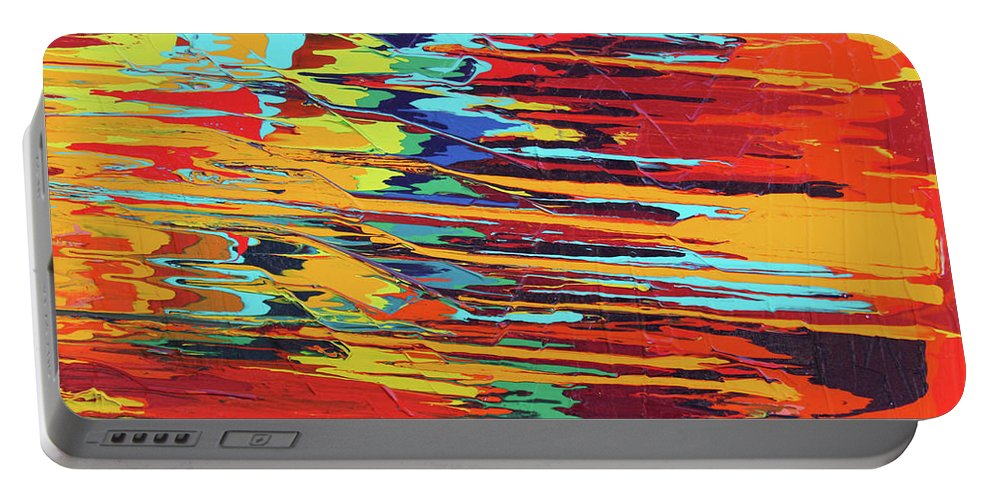 Fusionart Portable Battery Charger featuring the painting Zap by Ralph White