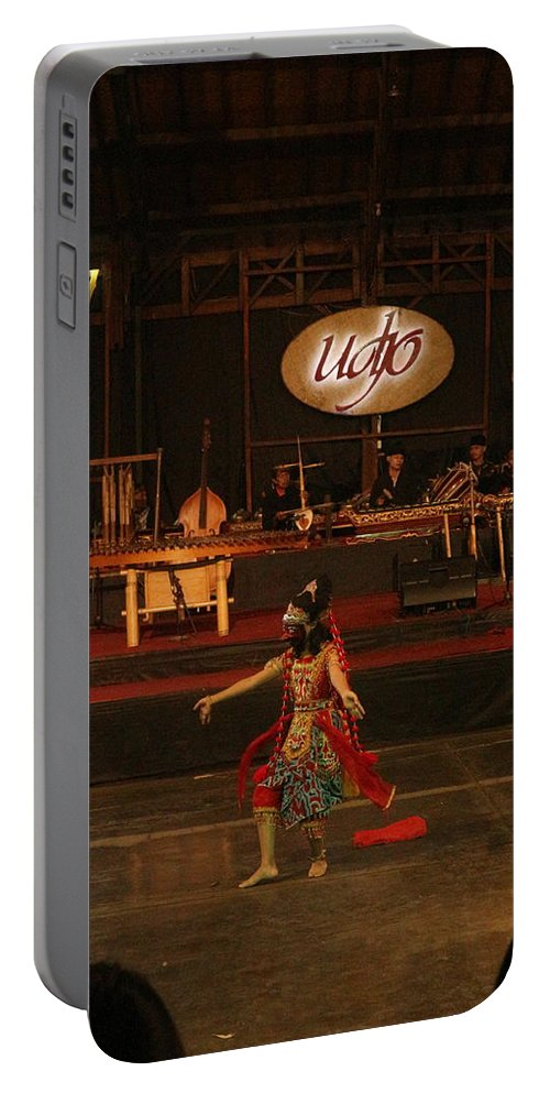 Dance Portable Battery Charger featuring the photograph Mask Dance by Lingga Tiara Setiadi