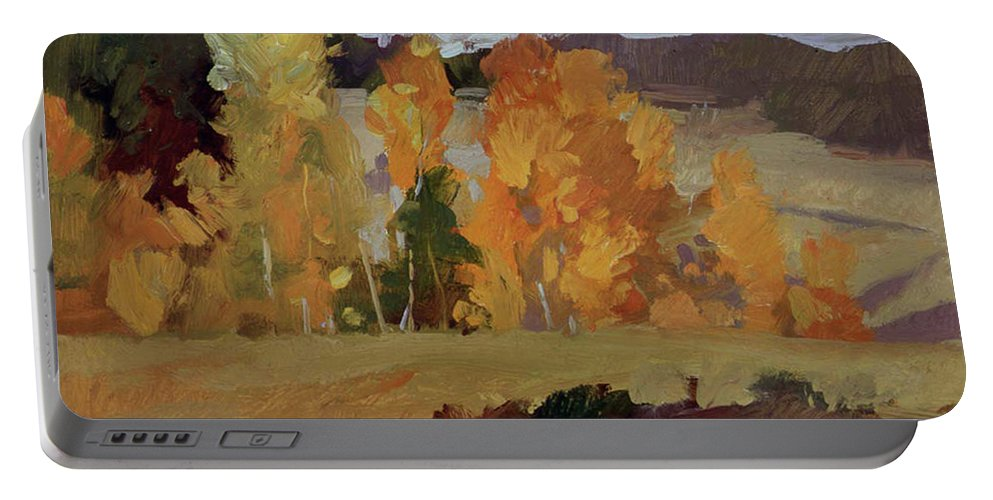 Montana Landscape Portable Battery Charger featuring the painting Montana Autumn by Betty Jean Billups