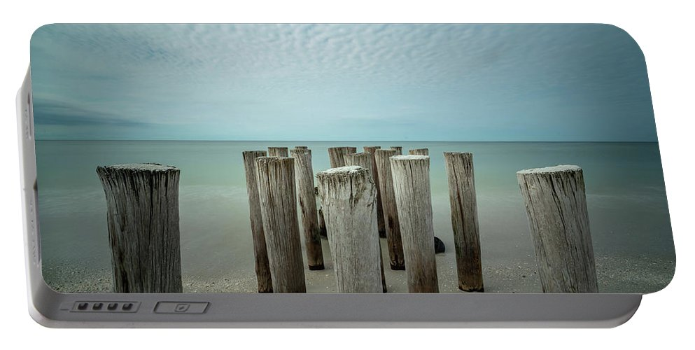 Naples Florida 2021 Portable Battery Charger featuring the photograph Naples Pilings 2021 by Joey Waves