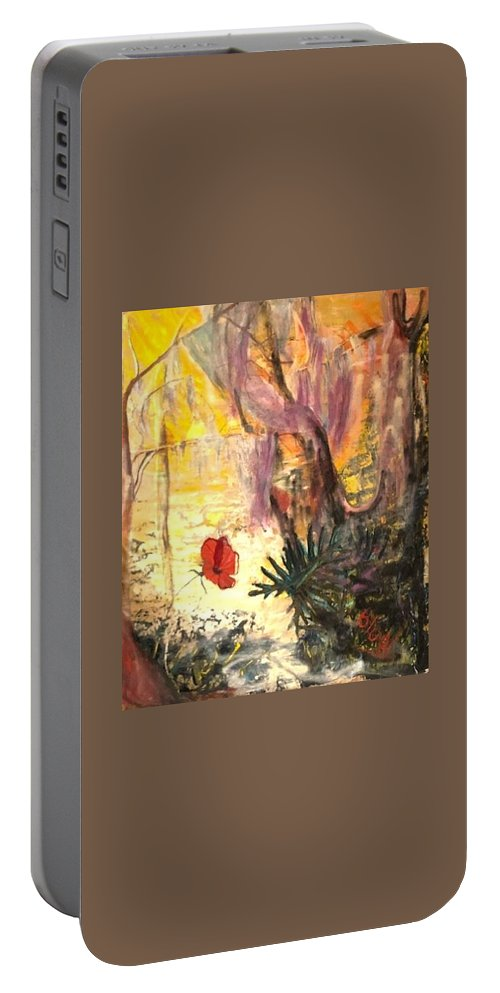 Sunshine Portable Battery Charger featuring the painting Sunrise on Wilmington Island by Peggy Blood