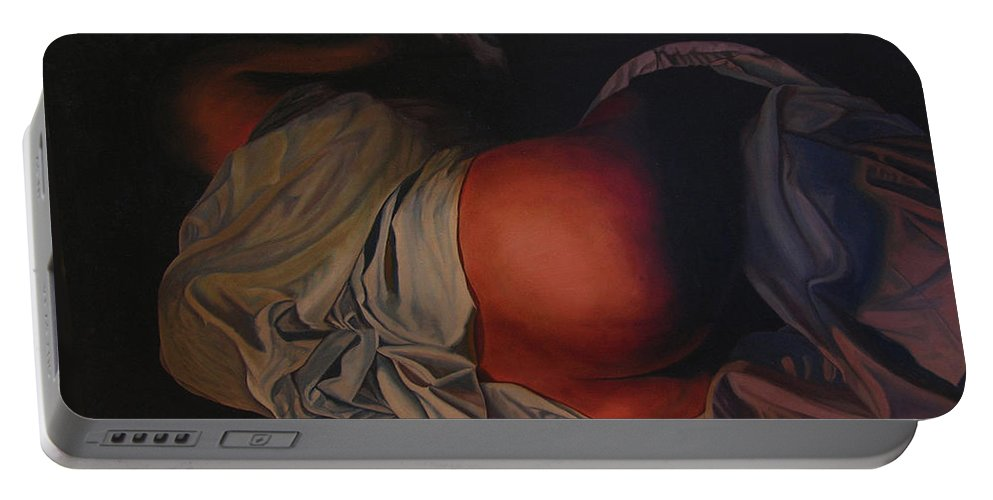 Sexual Portable Battery Charger featuring the painting 12 30 A M by Thu Nguyen