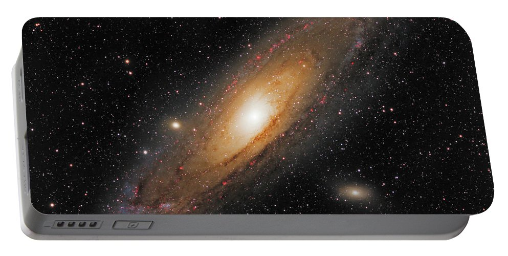 Andromeda Galaxy Portable Battery Charger featuring the photograph Andromeda Galaxy by Prabhu Astrophotography