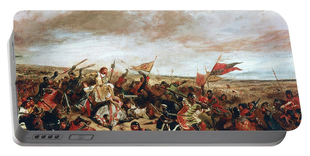 Poitiers Portable Battery Charger featuring the painting Battle of Poitiers on September 19, 1356 by Ferdinand Victor Eugene Delacroix