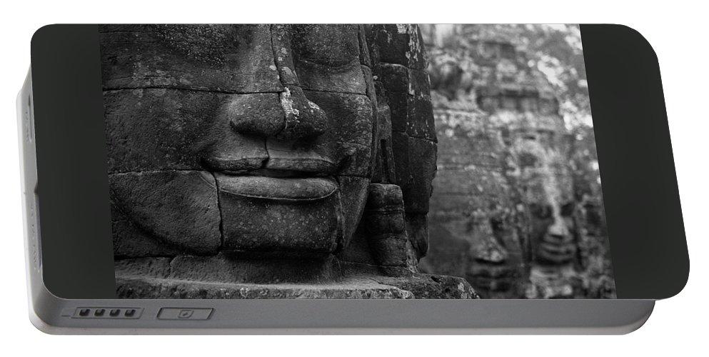Bayon Portable Battery Charger featuring the photograph Bayon Temple - Angkor by Patrick Klauss