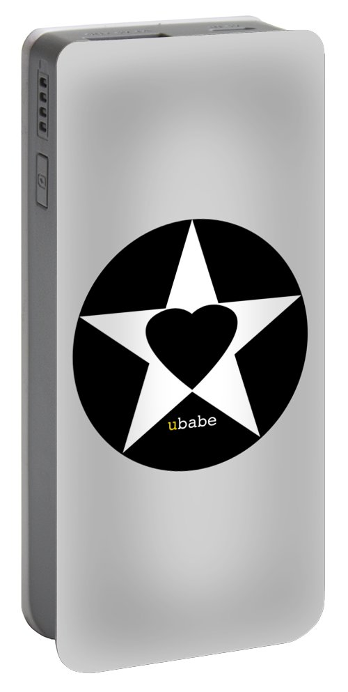 American Love Heart Portable Battery Charger featuring the painting Black love by Charles Stuart