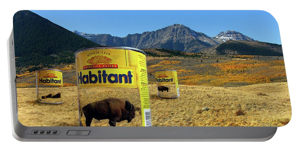 Digital Art Portable Battery Charger featuring the digital art Buffalo Soup by Otto Rapp