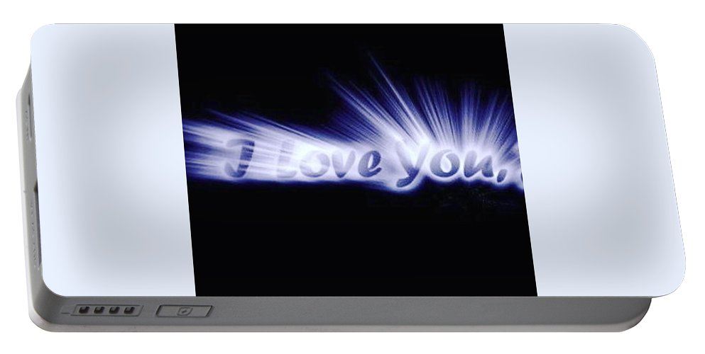 Love Portable Battery Charger featuring the digital art Burst Of Love by Ariana Torralba