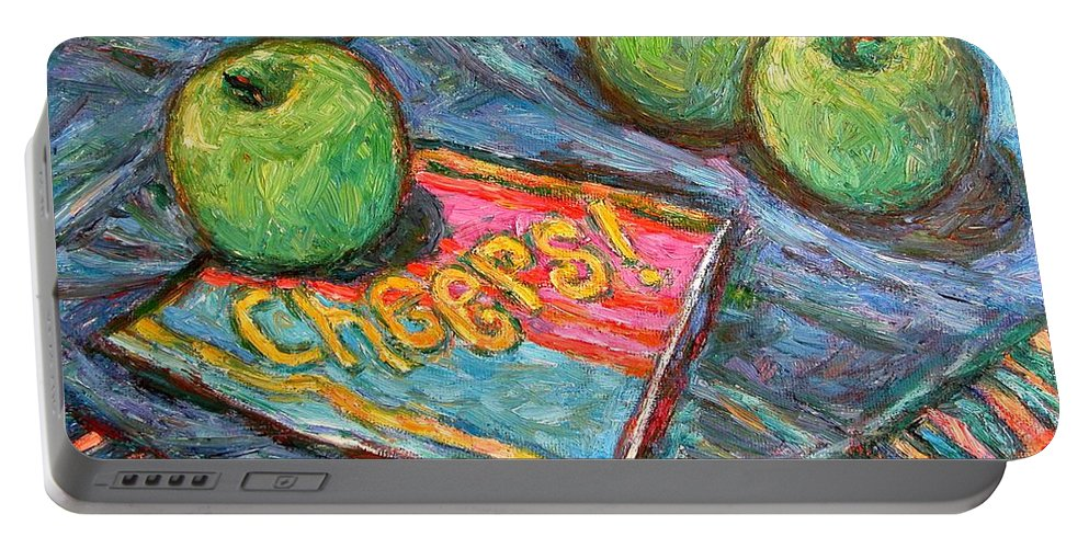Still Life Portable Battery Charger featuring the painting Cheers by Kendall Kessler