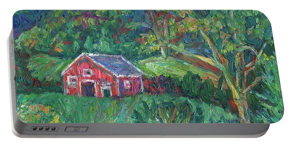 Rural Portable Battery Charger featuring the painting Clover Hollow in Giles County by Kendall Kessler