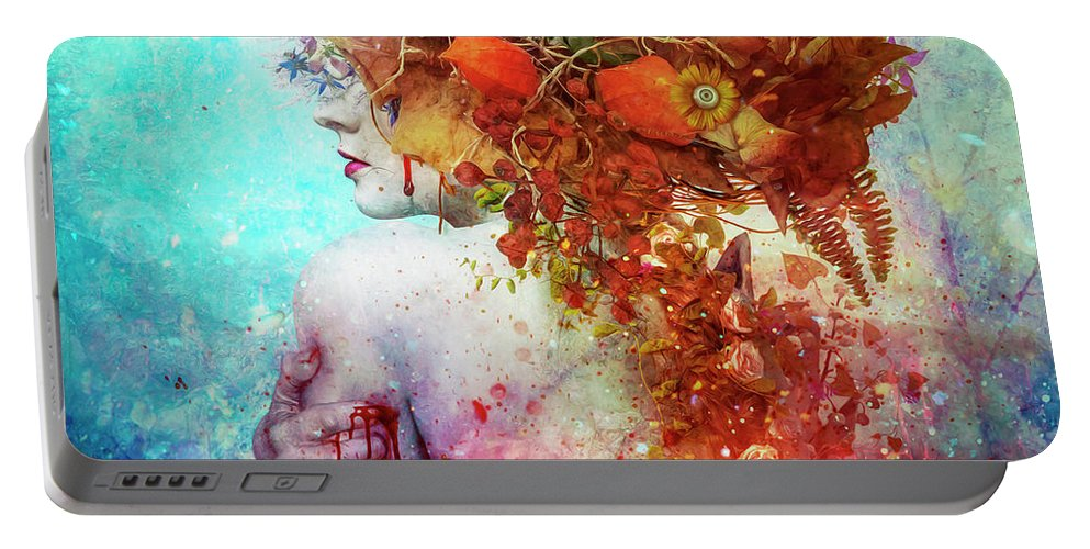 Surreal Portable Battery Charger featuring the digital art Compassion by Mario Sanchez Nevado