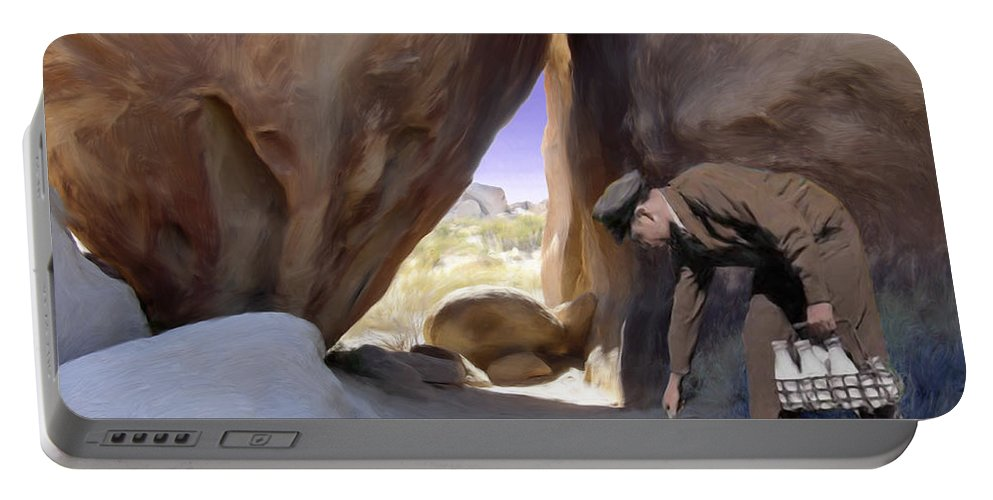 Desert Portable Battery Charger featuring the digital art Delivery by Snake Jagger