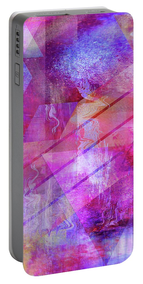 Dragon's Kiss Portable Battery Charger featuring the digital art Dragon's Kiss by John Robert Beck