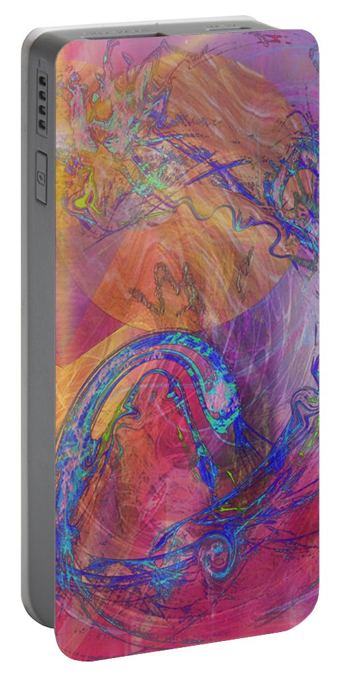 Dragon's Tale Portable Battery Charger featuring the digital art Dragon's Tale by John Robert Beck