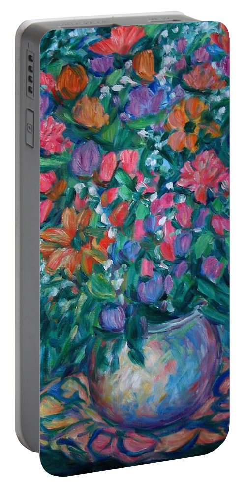 Floral Paintings Portable Battery Charger featuring the painting Dream Bouquet by Kendall Kessler