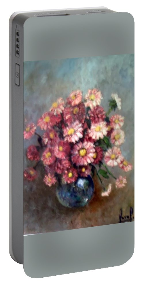 Portable Battery Charger featuring the painting Early Paint by Carol P Kingsley