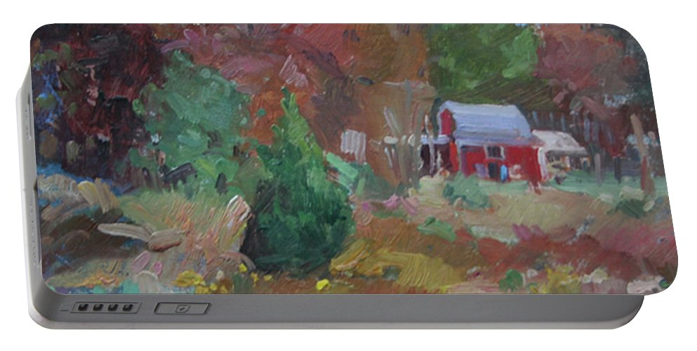 Impressionism Portable Battery Charger featuring the painting Eastern Shore Hideaway by Betty Jean Billups