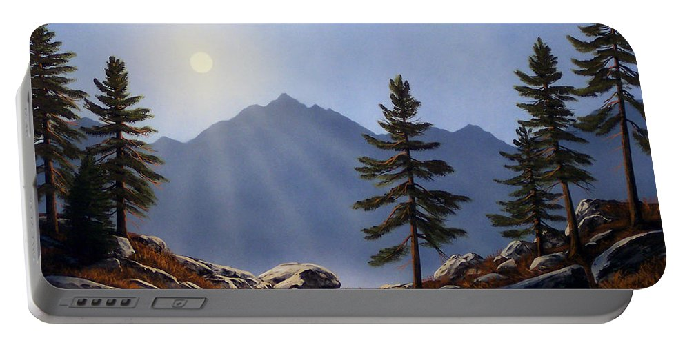 Evening Sun Portable Battery Charger featuring the painting Evening Sun by Frank Wilson
