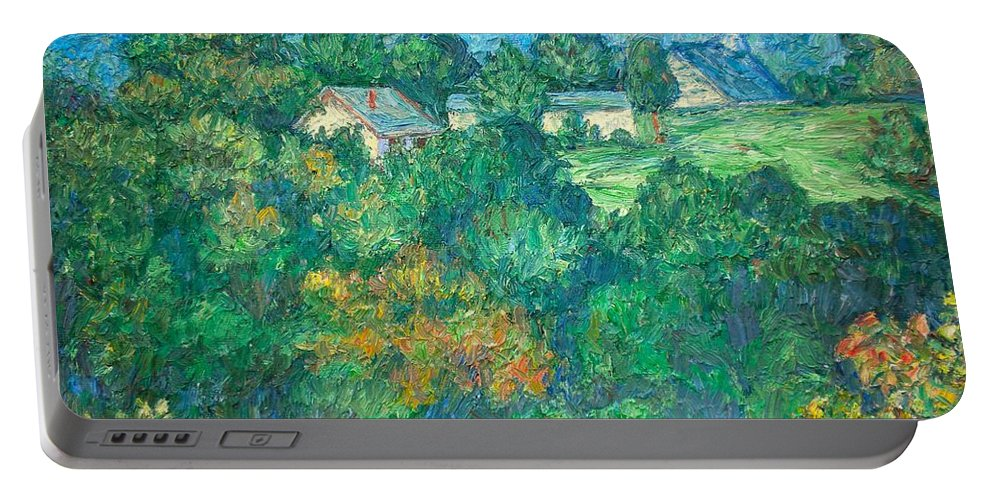 Kendall Kessler Portable Battery Charger featuring the painting Fairlawn Ridge by Kendall Kessler