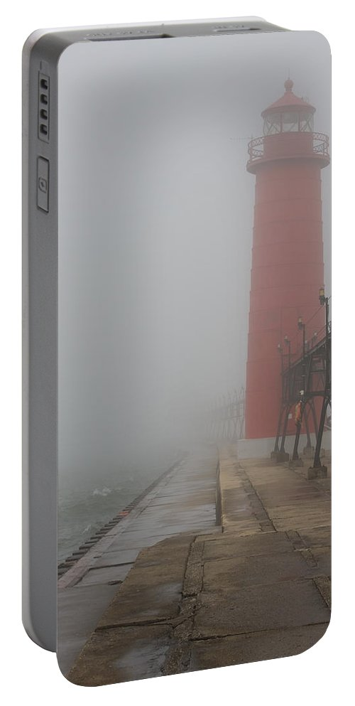 3scape Portable Battery Charger featuring the photograph Foggy Day by Adam Romanowicz