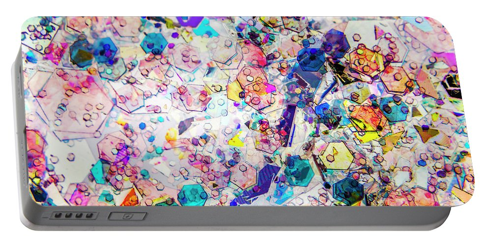 Abstract Portable Battery Charger featuring the photograph Fractal Colors by Jorgo Photography - Wall Art Gallery