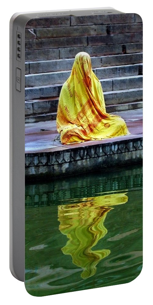 Meditate Portable Battery Charger featuring the photograph Ganga Dream by Skip Hunt