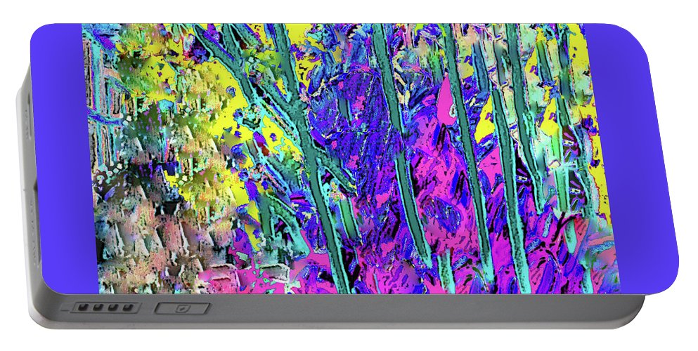 Purple Portable Battery Charger featuring the photograph Garden Dreams by Ian MacDonald