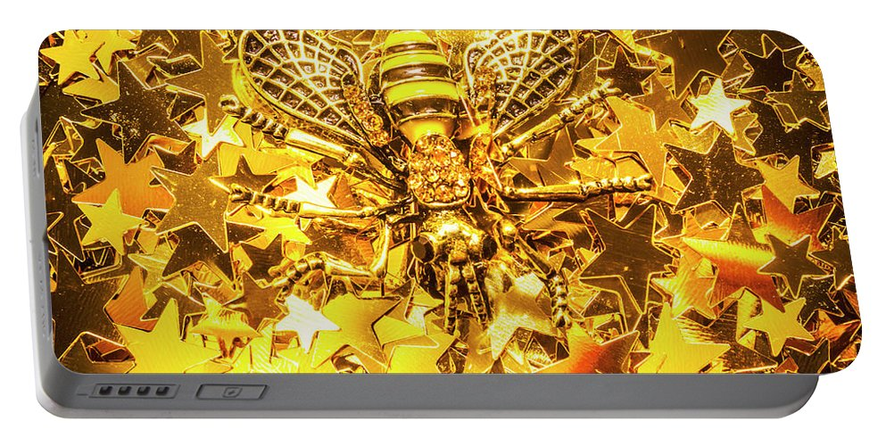 Gold Portable Battery Charger featuring the photograph Golden Hive by Jorgo Photography - Wall Art Gallery